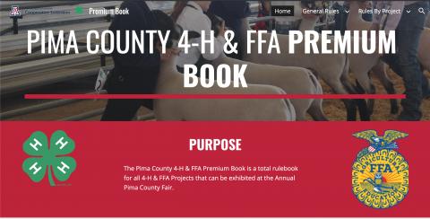 Pima County 4-H and FFA Premium and Record Book Cover
