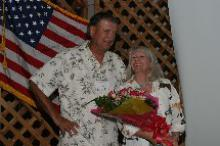 Leigh Cheatham and her husband -  2004 AZ Hall of Fame Inductee